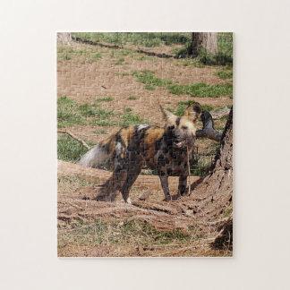 african-wild-dog-020 rompecabezas con fotos