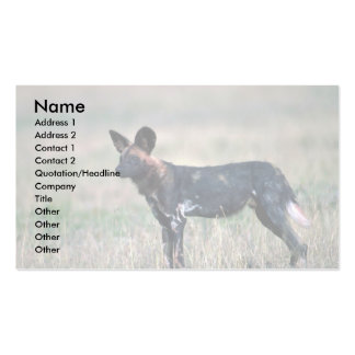 African Wild Dog Double-Sided Standard Business Cards (Pack Of 100)