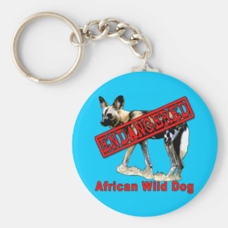 African Wild Dog Endangered Animal Products Keychain