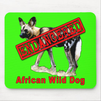 African Wild Dog Endangered Animal Products Mouse Pad