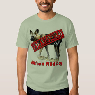 African Wild Dog Endangered Animal Products T-shirt