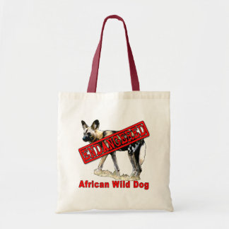 African Wild Dog Endangered Animal Products Tote Bag