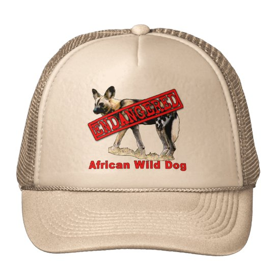 African Wild Dog Endangered Animal Products Trucker Hat