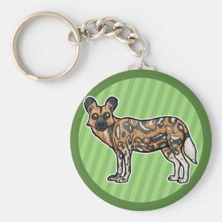 African Wild Dog Keychain