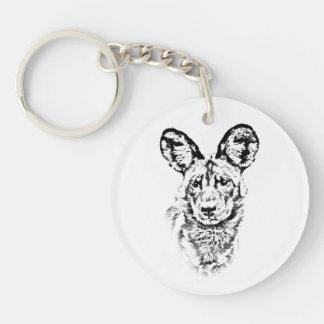 African Wild Dog Keychain - Africa Series
