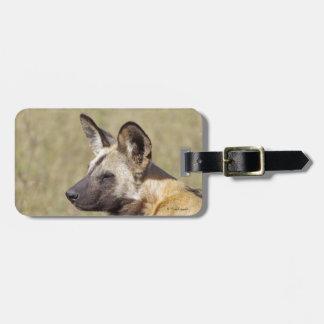 African Wild Dog Luggage Tag