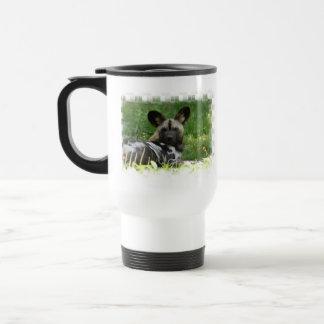 African Wild Dog Photo Plastic Travel Mug