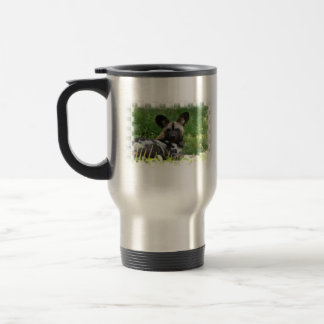 African Wild Dog Photo Travel Mug