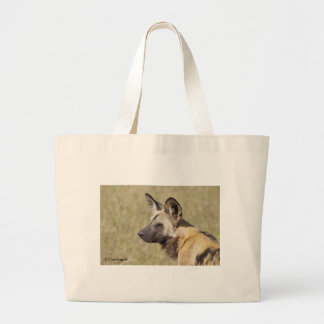 African Wild Dog Portrait Tote Bags
