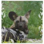 African Wild Dog Set of Four Napkins