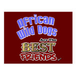 African Wild Dogs Are The Best Friends Post Cards