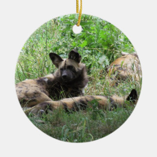 African Wild Dogs Christmas Ornament
