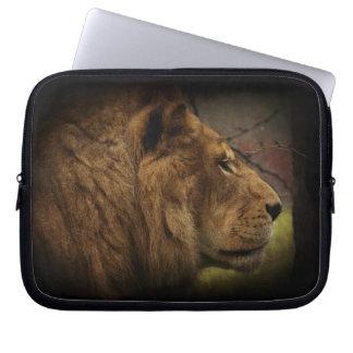 African Wild Lion Big Cat Wildlife Artwork Laptop Sleeve