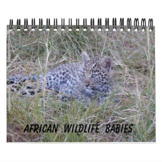 AFRICAN WILDLIFE BABIES CALENDAR