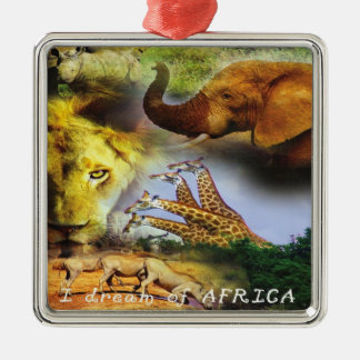 African Wildlife Collage Ornament
