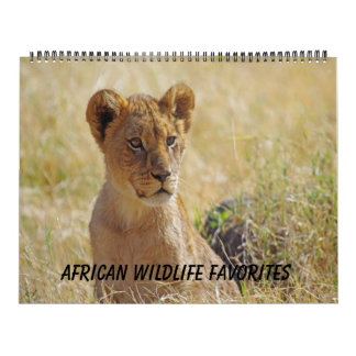 AFRICAN WILDLIFE FAVORITES CALENDAR