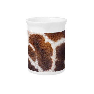 African Wildlife Giraffe Fur Photo Design Beverage Pitcher