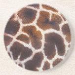 African Wildlife Giraffe Fur Photo Design Beverage Coasters