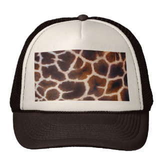 African Wildlife Giraffe Fur Photo Design Mesh Hats