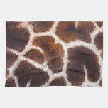 African Wildlife Giraffe Fur Photo Design Kitchen Towels
