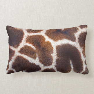 African Wildlife Giraffe Fur Photo Design Lumbar Pillow