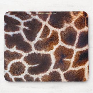 African Wildlife Giraffe Fur Photo Design Mouse Pad