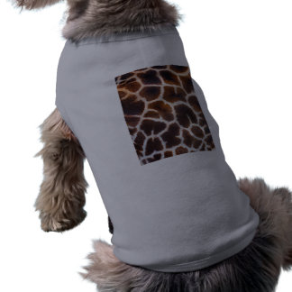African Wildlife Giraffe Fur Photo Design Tee