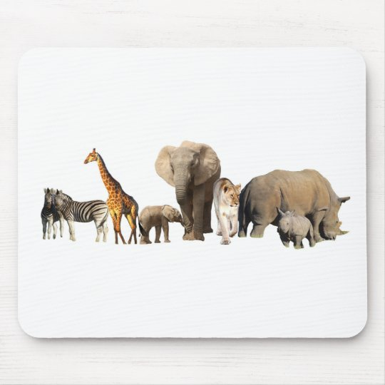African Wildlife Mouse Pad