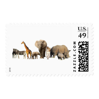 African Wildlife Postage Stamps