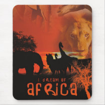 African Wildlife Sunset Mouse Pad