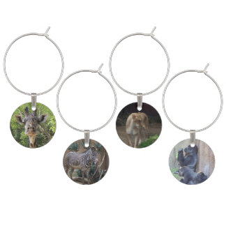 African Wildlife Wine Charms