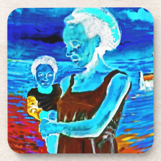 African Woman and Child, Surreal Coaster
