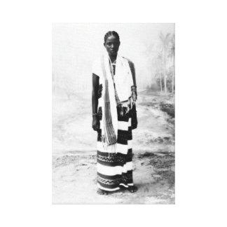 AFRICAN WOMAN CIRCA 1900 CANVAS PRINT