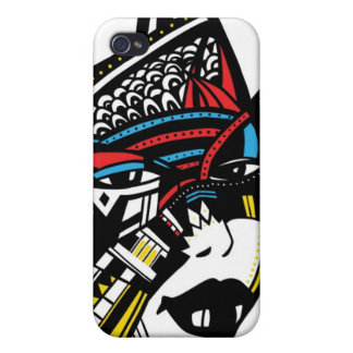 African woman face iPhone 4 cases