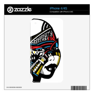African woman iPhone 4S skins