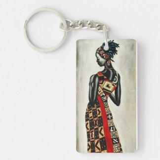 African woman keychain