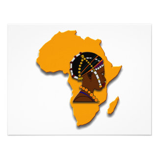 African Woman on the Continent Invitation