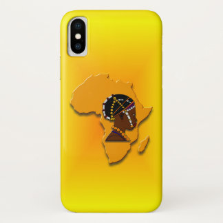 African Woman on the Continent iPhone X Case
