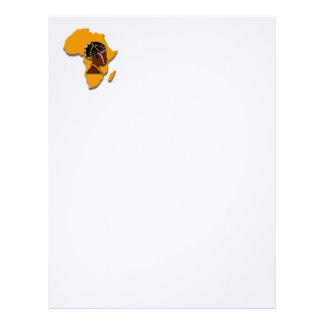 African Woman on the Continent Letterhead