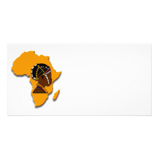 African Woman on the Continent Custom Photo Card