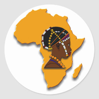 African Woman on the Continent Sticker