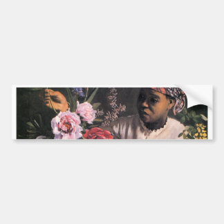 African Woman Planting Flowers in a Vase Bumper Sticker