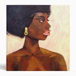 African Woman portrait of June (K.Turnbull Art) 3 Ring Binders