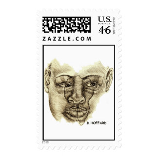 African Woman Postage