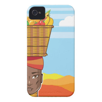 African woman with basket of food iPhone 4 case