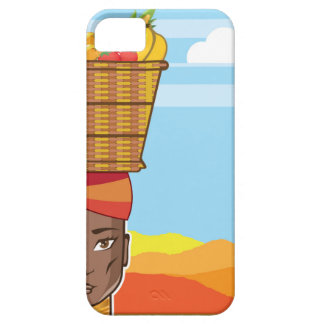 African woman with basket of food iPhone SE/5/5s case