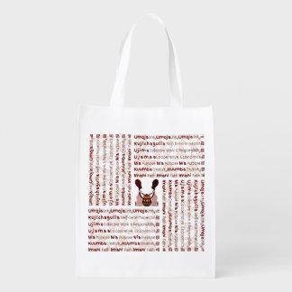 African Women and a Basket Modern Kwanzaa Grocery Bag