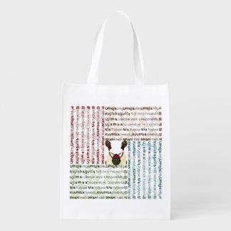 African Women and a Basket Modern Kwanzaa Reusable Grocery Bag