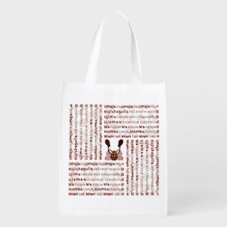 African Women and a Basket Modern Kwanzaa Reusable Grocery Bags