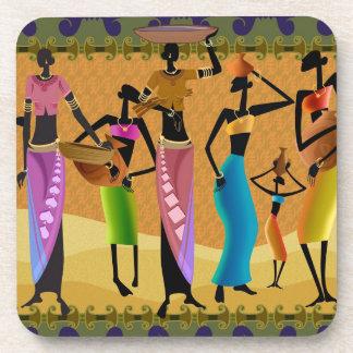 African Women Beverage Coaster